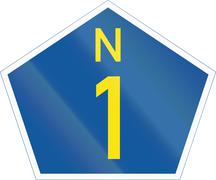 South Africa National Route sign - N1 Stock Illustration