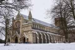 Cathedral and Abbey Church in St.Albans, UK - stock photo