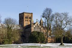 Cathedral and Abbey Church in St.Albans, UK Stock Photos