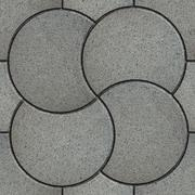 Gray Pavement in the Form of a Quatrefoil - stock illustration
