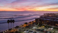 Ventura California Pacific Sunset Time Lapse Stock Footage