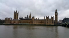 House Of Parliament And Westminster , London - stock footage