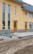 newly build houses - stock photo