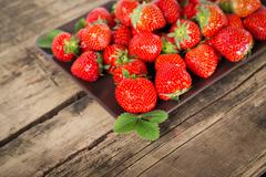 Fresh aroma strawberries - stock photo