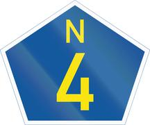 South Africa National Route sign - N4 Stock Illustration