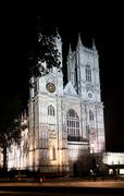 Westminster abbey, London, England, at night Stock Photos