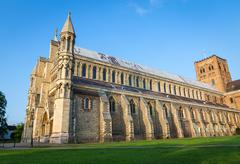 Cathedral and Abbey Church Saint Alban St.Albans Stock Photos