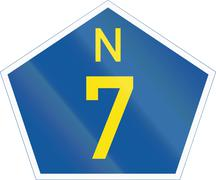 South Africa National Route sign - N7 - stock illustration