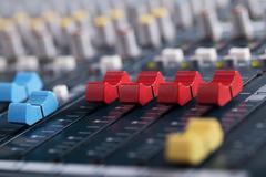Music mixer consol Stock Photos