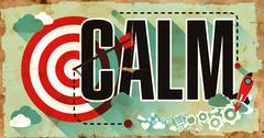 Stock Illustration of Calm - Word on Grunge Poster in Flat Design