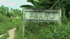 CLOSE UP OF PAKRO SIGN Stock Footage