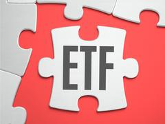 Stock Illustration of ETF - Puzzle on the Place of Missing Pieces