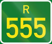 South Africa Regional Route shield - R555 Stock Illustration