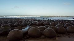 Bowling Ball Beach Rocks Stock Footage