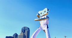 Iron Man Novitzky and Skyline Stock Footage