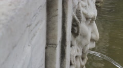 Classic Marble God Fountain Mouth Stock Footage