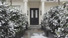 Stock Video Footage of Door With Snow