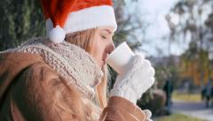 Waiting for Him on Cold Day - stock footage