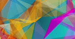 Low-poly triangles in bright colours background seamless VJ loop 15s 4K Stock Footage