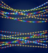 Stock Illustration of Festive flags background
