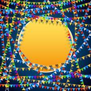 Festive flags background - stock illustration