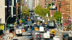 Time-lapse New York Junction, yellow taxis and traffic Stock Footage