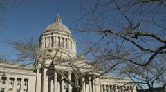 State Capital Building Dome, Olympia Washington Stock Footage