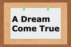 A Dream Come True concept - stock illustration