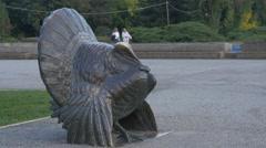 Turkey statue in Herăstrău Park, Bucharest Stock Footage