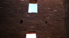 Time lapse of Sun Streaking in Native American Ruin -Long Shot 2- Stock Footage