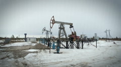 Pumpjack, Old Pumping Unit, Jack Pump, Donkey, Fossil Fuel Energy, Oil Pump Stock Footage