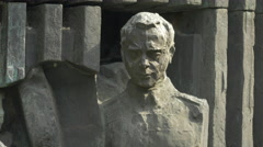 Stock Video Footage of One statue of The Monument of Romanian Infantry in Bucharest