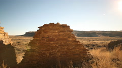 3axis Motion Control Time Lapse of Native American Ruin -Zoom In- Stock Footage