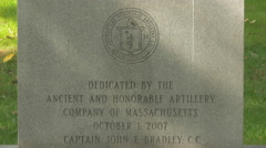 Monument to the Artillery Company of Massachusetts in Bucharest Stock Footage