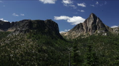 Cathedral peak and clouds Stock Footage