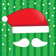 Stock Illustration of Santa hat vector for christmas.