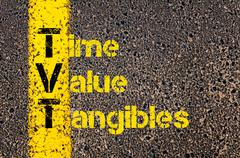 Accounting Business Acronym TVT Time Value Tangibles Stock Photos