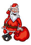 Santa Claus Flirting Stock Illustration
