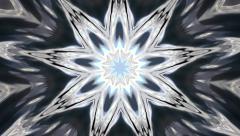 Christmas kaleidoscopic dark texture like snowflake Stock Footage