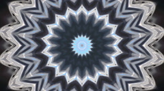 Irisated geometric kaleidoscopic texture with flowing effect on dark background. - stock footage