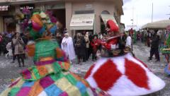 VENICE FEBRUARY 14 2015 Colorful dresses at the carnival Stock Footage