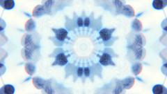 Fantasy transparent blue and white kaleidoscopic pattern. - stock footage