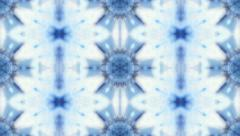 Christmas transparent blue and white kaleidoscopic pattern. - stock footage