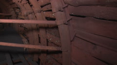 Fortifications in the mine Stock Footage