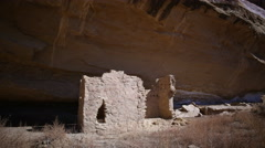 Stock Video Footage of Time Lapse of Native American Ruin under Moon Light -Zoom In-
