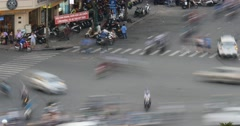 HO CHI MINH / SAIGON, VIETNAM - 2015: Time lapse street asia people asian city - stock footage