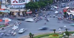 HO CHI MINH / SAIGON, VIETNAM - 2015: Time lapse street asia people asian city Stock Footage