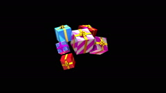 Animated merry christmas text isolated Stock Footage
