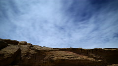 Time Lapse of Native American Cliff House in Moon Light -Tilt Down- - stock footage