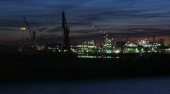 Blick über die Elbe Stock Footage
